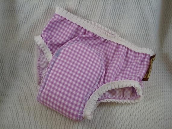 Cotton Toddler Girls Training Underwear with Waterproof Pad  - Lavender Love 2770