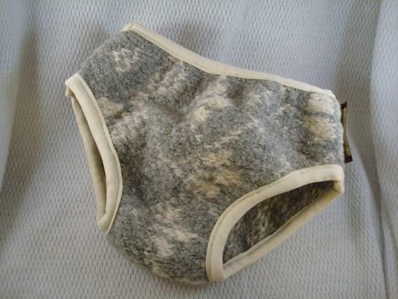Upcycled Thick Wool Preschool Boys Nighttime Underwear - Marble 2090