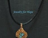Birds Nest Wire Wrapped Necklace