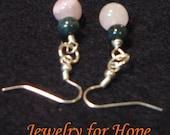 Jasper and Fluorite Tear Drop Earrings