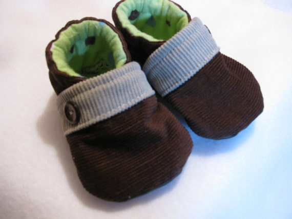 Baby Boy Chocolate Brown Cord shoes
