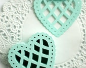 Mint Heart Doily Garland Kit