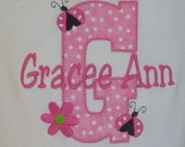Personalized T Shirt with LadyBug Accents