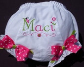 Personalized Diaper Covers with Ladybugs and Flowers