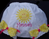 Personalized Sunshine  Birthday Diaper Covers