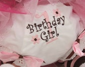 Personalized Birthday Diaper Covers in  Pink and Brown