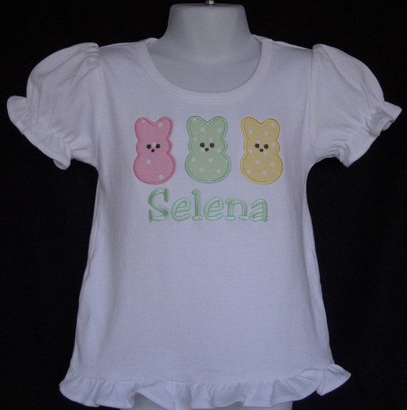Personalized Peeps on Girly T Shirt