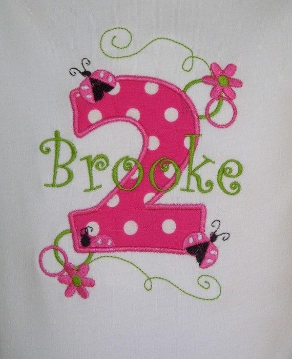 Girls' Birthday Hot Pink Ladybug Basic Short Sleeve T-Shirt