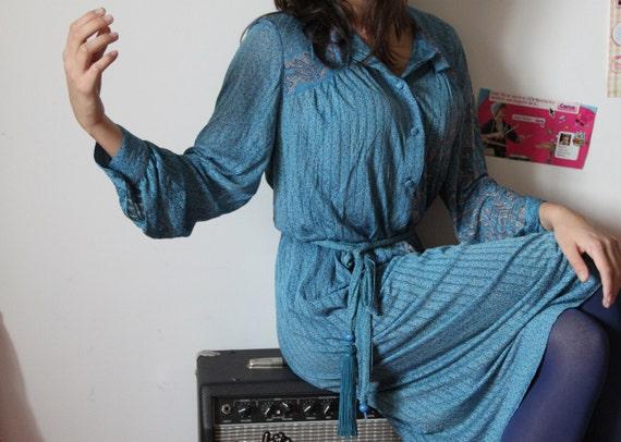 80s Secretary Dress - Shangri-La