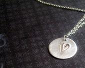 Fine Silver Initial Pendant