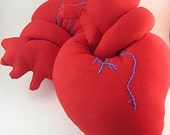Plush stuffed anatomical heart red valentine heart toy