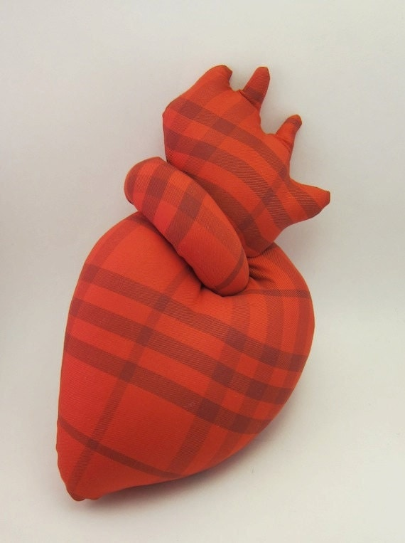 Plush heart anatomical stuffed red valentine heart toy
