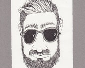 Shane 8 x 5 1/2 original ink drawing