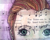 Never Alone- original mixed media ink and watercolor