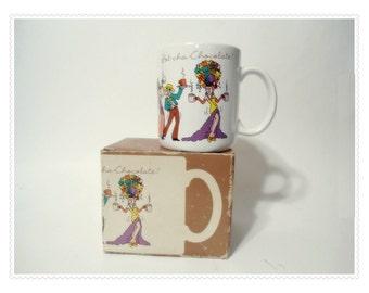1984 Zany Hallmark Mug MIB Hot Chocolate - Dancers - Hot cha cha - Japan