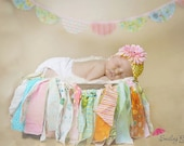Newborn Baby Girl Photo Prop Rag Garland