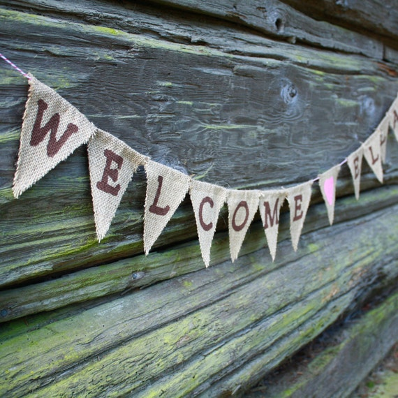 Baby Shower Banner Welcome Baby Customizable Colors