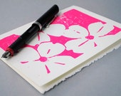 Magenta Dogwood Notecard, Hot Pink Floral Greeting Card