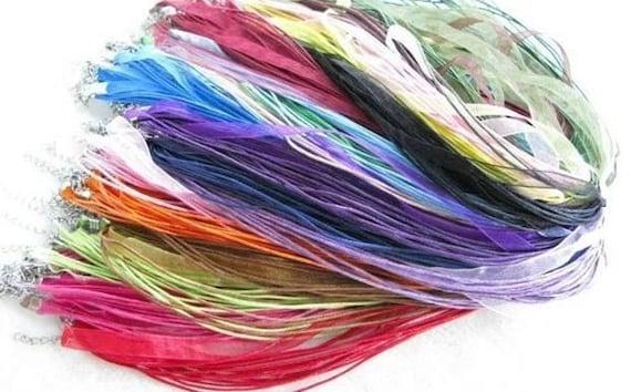 100 Silk Ribbon Necklaces