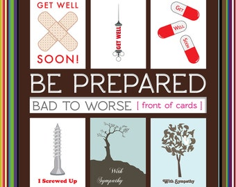 From Bad to Worse Variety Pack - Get Well, I'm Sorry and Sympathy Cards (Set of 6)