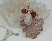 Lacy Oak Leaf Necklace