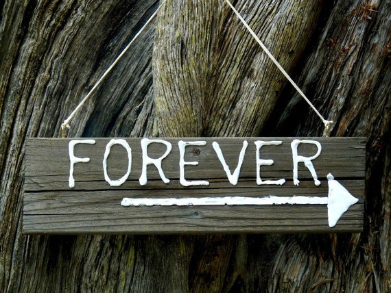 Rustic Salvaged Wood Signs for Gardens or Weddings