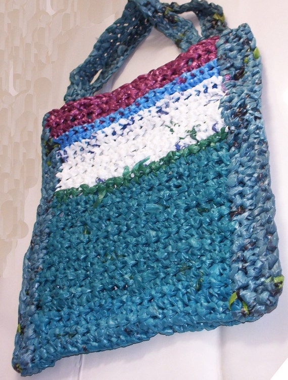 Crochet Grocery Bag : Crochet Plastic Tote/Grocery Bag by UltimateEclectic on Etsy