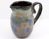Crystalline Pitcher Blue and Tan