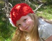 Strawberry Feilds Girls crochet hat beanie PDF pattern