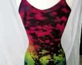 V neck Cami Rainbow and Black Size Small
