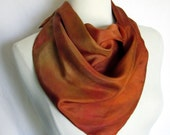 Silk Scarf Autumn Leaves Square
