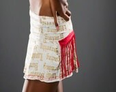CORRUPT COUTURE Gold and the Beautiful Fringe Mini Skirt
