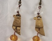 Steampunk earrings 5 - antique watch parts