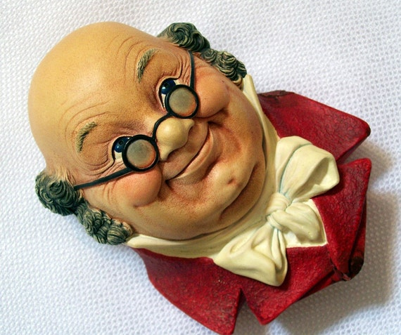 Mr. Pickwick Bossons Character Wall Mask from the Dickens Collection Vintage 1964