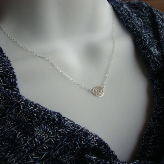 Tiniest Rose Necklace