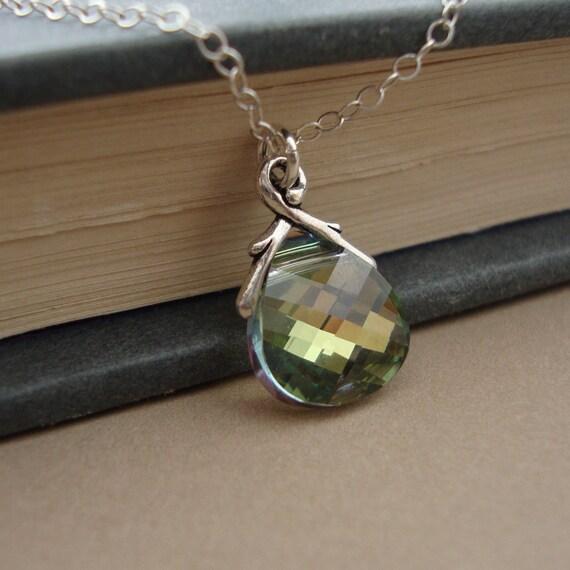 Swarovski Crystal Necklace - Sterling Silver - Dainty, Elegant, Chic, Lovely Gift