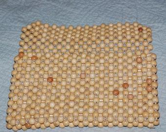 Vintage Japanese Wood Bead clutch