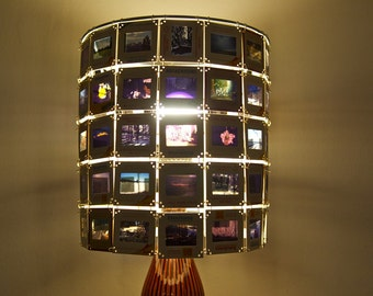Customized Vintage kodachrome slide lamp shade- made to order