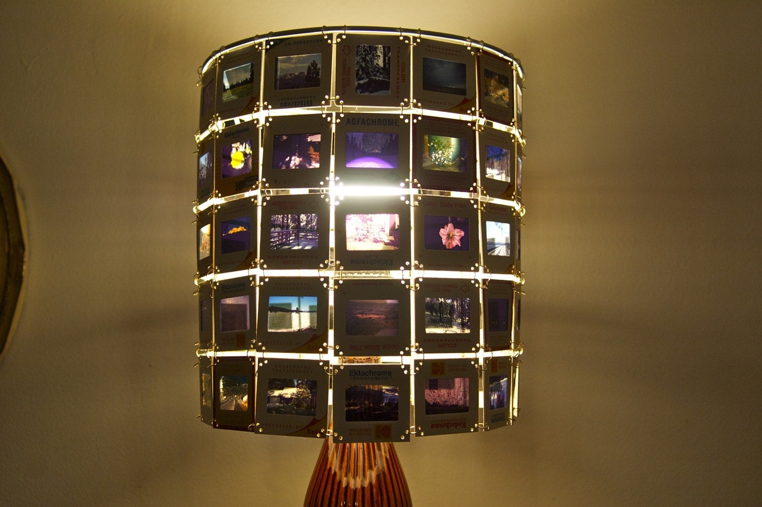 Customized Vintage Kodachrome Slide Lamp Shade Made To Order