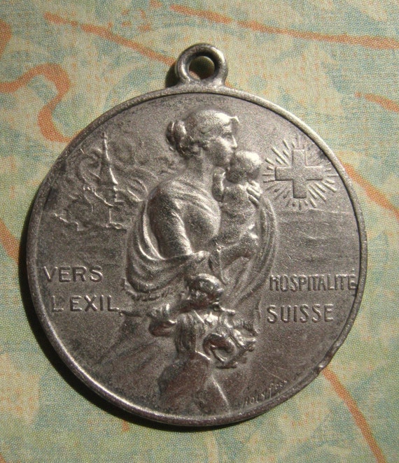 1914 Solid Silver WWI Art Medal SS-289