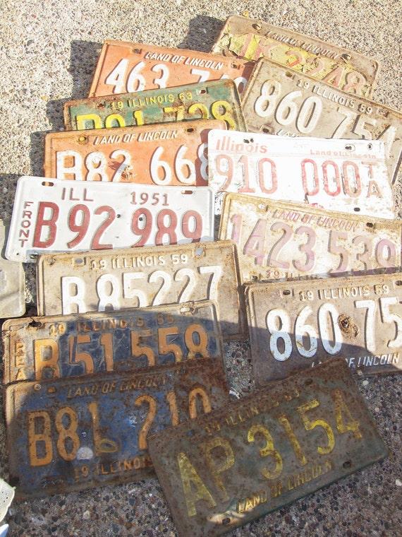 Huge Pile of Old License Plates - 75 total
