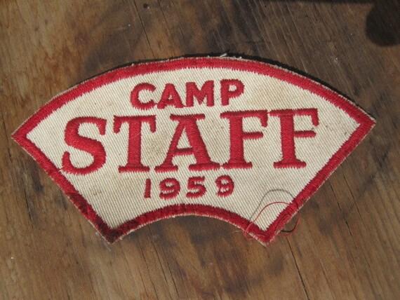Vintage 1959 Camp Staff Patch