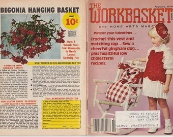 4 Vintage Workbasket and 1 Creative Quilting Magazines-1970s