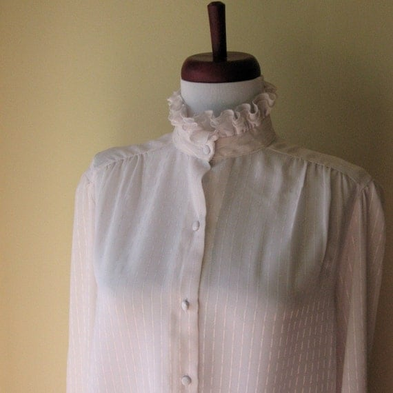 White Ruffle Victorian Blouse 81