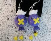 Pokemon Inspired Drifloon Earrings