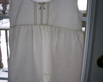 Vintage Little Girls Cotton Slip Sundress