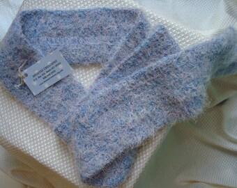 Silky Soft, Long Crocheted Fashion Scarf in Sky Blue - 74B