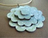 Earthy Pop Flower Necklace in Tropical Punch by Soul Song Creations