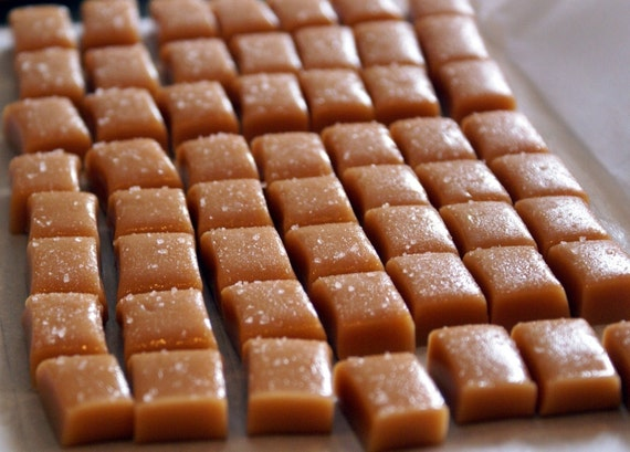 FiRST CLASS - Individually wrapped Fleur de Sel SEA SALT Caramels - 1/2 Pound