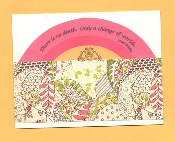 Pet Sympathy Card with Quotation